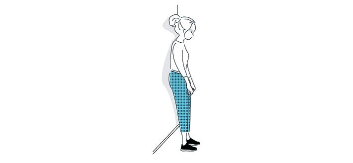 ایستادن با یک تکیه گاه در پشت درمان تنگی نفس
