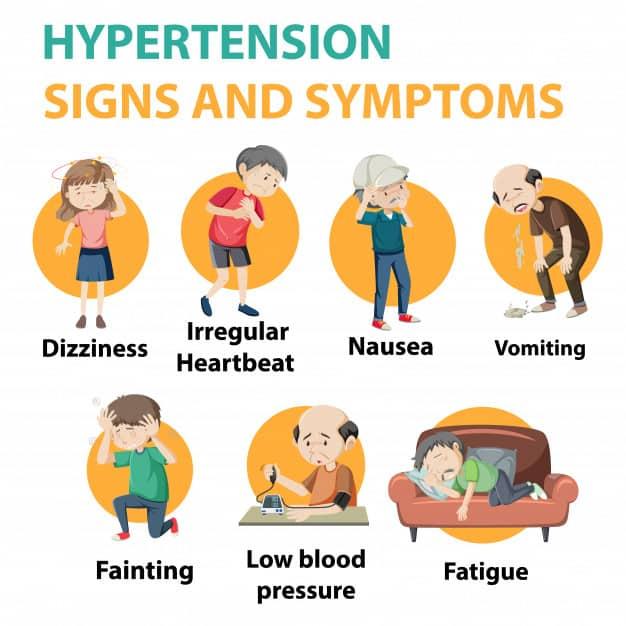 نشانه های فشار خون بالا