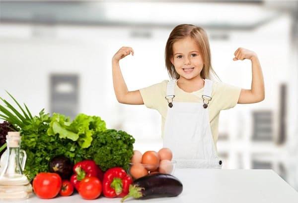 سبزیجات با سایر مواد در رژیم غذایی کودکان